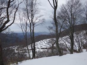 下に林道が(中央奥にホノケ山)