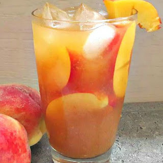 Healthy Peach Sweet Tea.
