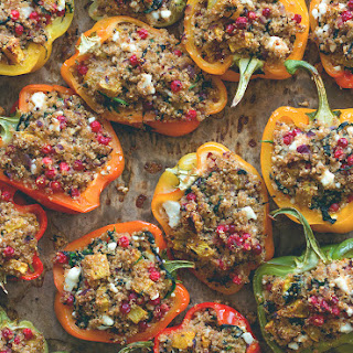Quinoa Stuffed Bell Peppers with Squash and Cranberries
