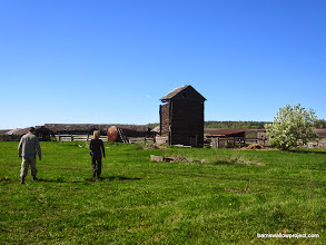 Photo: Checking out a vacant cattle ranch for barn swallow nests