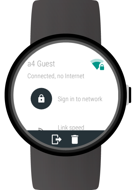 Wi-Fi Manager for Android Wear- screenshot