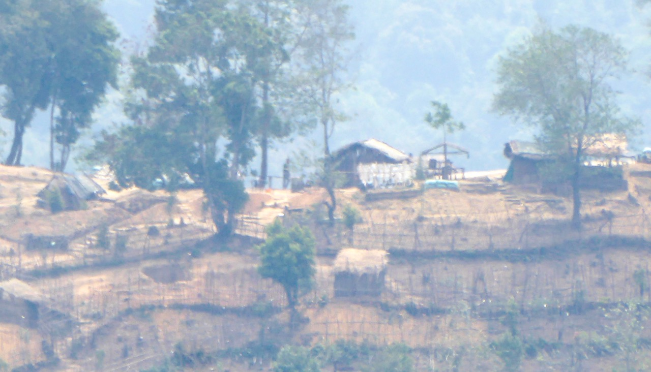 Burma Army camp in Jan Mai area, controlling Bhamo road