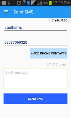 EbulkSMS - Bulk SMS Nigeria - screenshot