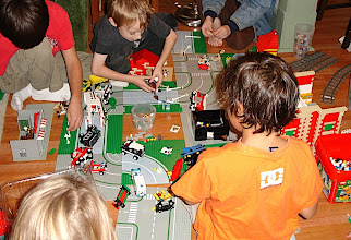 Photo: A group of Boys gathered in a LEGO® City