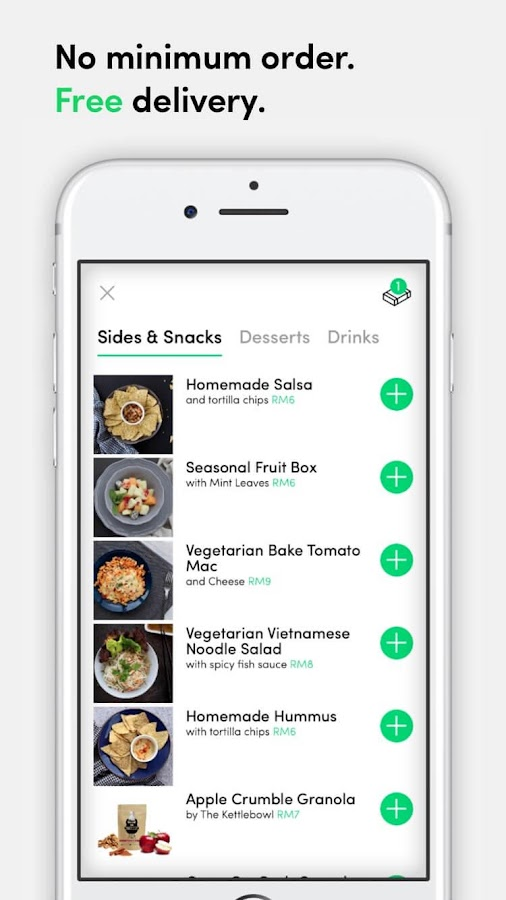 dahmakan healthy food delivery- screenshot