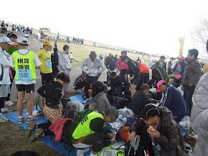 Photo: 板橋Cityマラソン レース前の準備