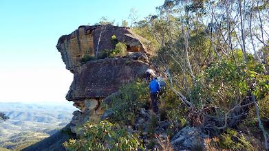 Photo: Climbing Bonnum Pic ridge