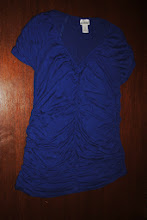 Photo: Ruched Motherhood Maternity V Neck. Ruching detail down sides, at Front Center over belly, and around neck. Beautiful shirt, Worn just a few times. $6 XL