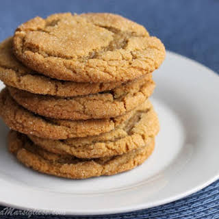 Chewy Brown Sugar Ginger Cookies.