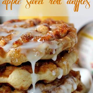 Apple Sweet Roll Waffles