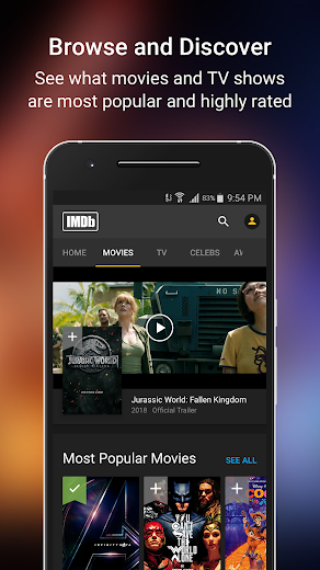 Screenshot 0 for IMDb's Android app'