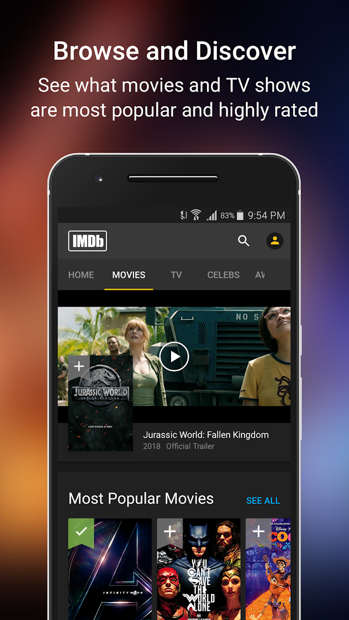 IMDb Movies & TV v2019 For Android APK Download - DLoadAPK