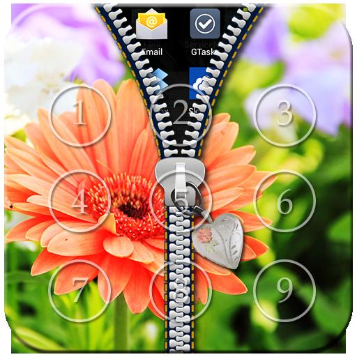 Flower Zipper Lock
