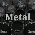 Drum kit metal icon