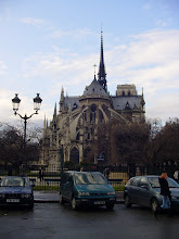 Photo: We cross over briefly to the Ile de la Cite, and Notre Dame as seen from the back.