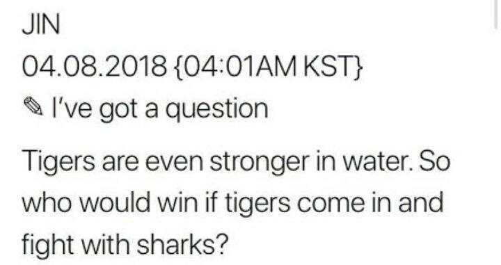 jin tweet