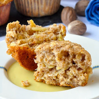 Oatmeal Apple Banana Low Fat Muffins.