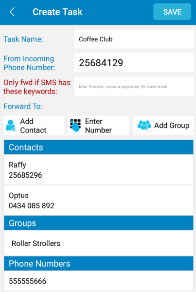 Auto Forward SMS to another number & email Android 5