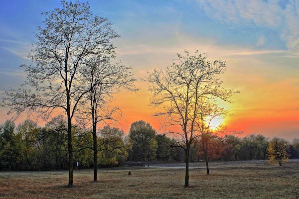 V.VAN GOGH-Paesaggio al tramonto 1885 di FZATOX