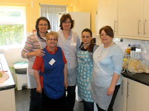 Photo: 005 The Heroines of the Day still smiling at 10.15 am and before the first of over 200 sausage baps were served. LtoR: Sue, Terri, Diane, Shelby, Michelle