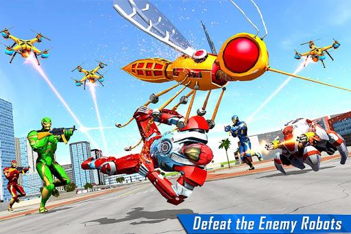 Mosquito Robot Car Game - Transforming Robot Games apktreat screenshots 2
