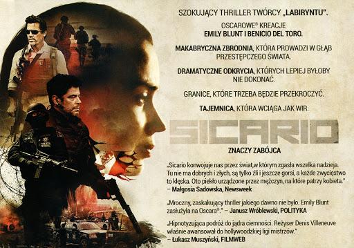 Tył ulotki filmu 'Sicario'