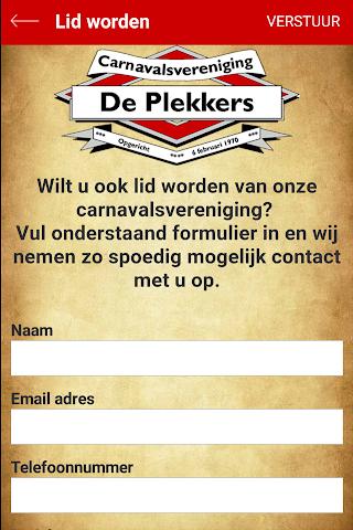 android CV de Plekkers Screenshot 1