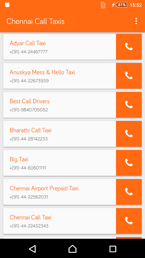 Chennai Call Taxis- screenshot