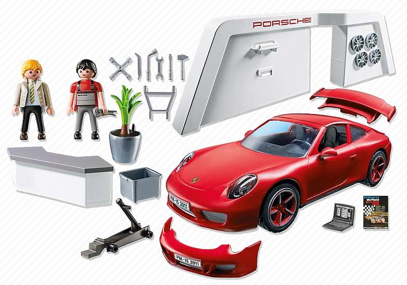 Contenido real de Playmobil® 3911 Porsche Carrera 911S
