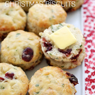 Cranberry Basil Christmas Biscuits.