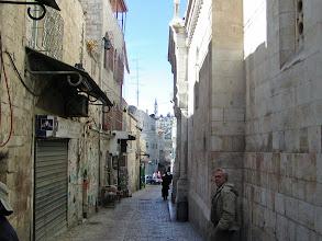 Photo: Walking on the Via Dolorosa, the path Jesus walked to crucifixion.