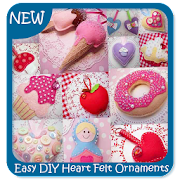 Easy DIY Heart Felt Ornaments Sewing