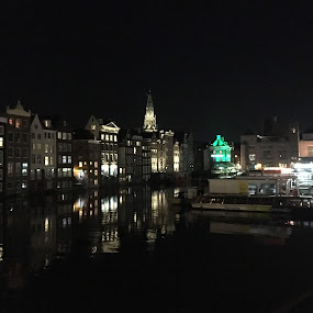 Amsterdam Night  by Anwesh Soma - Buildings & Architecture Public & Historical ( shotoniphone,  )