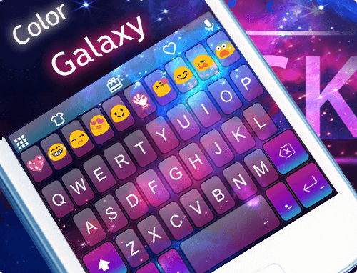 Color Galaxy Emoji Keyboard  screenshots 6