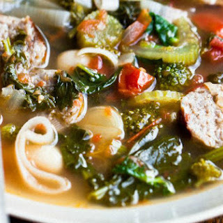 Cozy Winter Soup with Fennel Sausage, Leeks, White Beans, and Rapini
