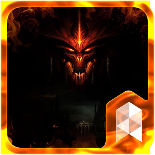 Fire Diablo Launcher theme