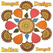 Indian Modern Rangoli Design