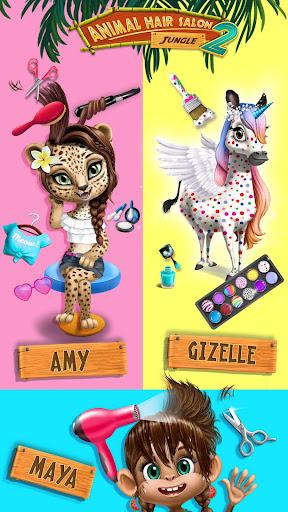 Jungle Animal Hair Salon 2 - Tropical Beauty Salon android2mod screenshots 4