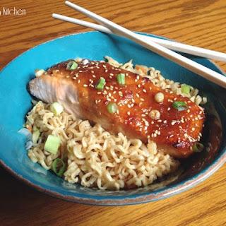 Miso-Glazed Salmon with Ramen Noodles