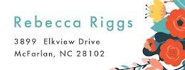 Rebecca Riggs - Address Label item