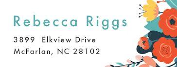 Rebecca Riggs - Address Label template