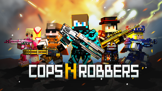 Cops N Robbers – 3D Pixel Craft Gun Shooting Games Mod (Ammo & More) 1