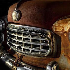 grime love by Dougetta Nuneviller - Transportation Automobiles ( automobile     automobiles     vintage     car     antique     relic     rust     decay     abandonded     junk     route 66     broken     grime     beautiful     colorful     old )