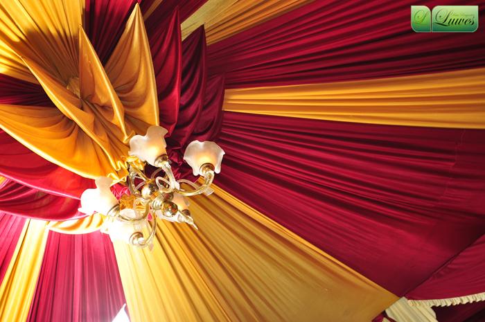 Dekorasi tenda resepsi pernikahan