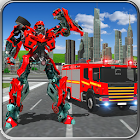 911 Fire Truck Real Robot Transformation Game icon