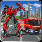 Fire Truck Real Robot Transformation: Robot Wars 70
