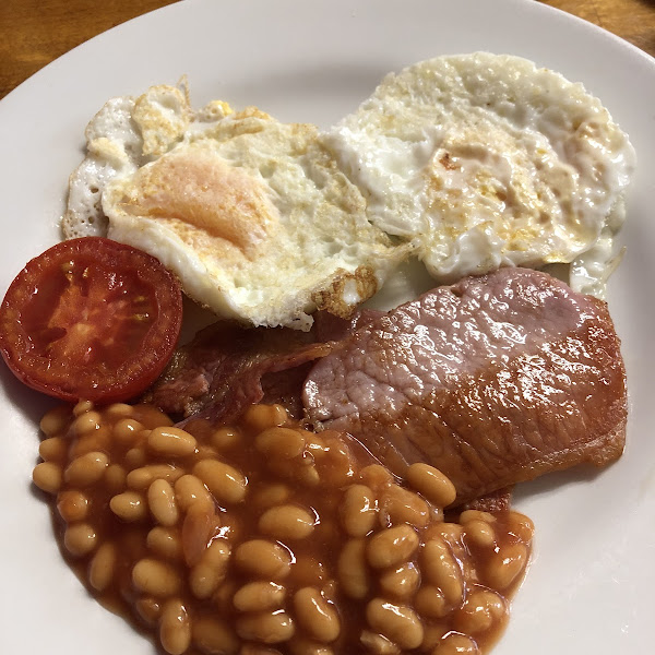 English breakfast, but no sausage