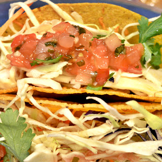 Snapper Fish Tacos With Slaw.