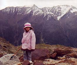 Photo: Carolina, ruda montañera en el Tirol (agosto de 2007)