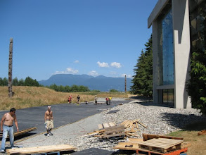 Photo: Back of Museum of Anthropology at University of British Columbia, one of the best museums I have ever seen!